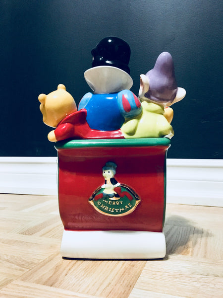 Disney Collection, Mickey And Friends Christmas Cookie Jar Collectible Jar, Antique Alchemy