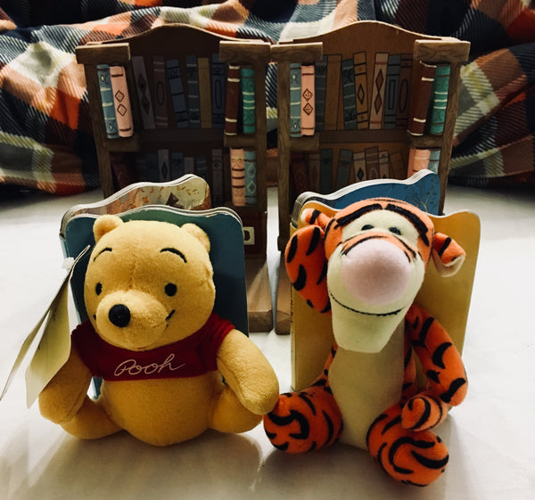 Disney Winnie the Pooh Book End Buddies, Tiger and Pooh, Antique Alchemy