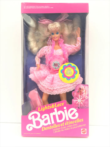 1990 Light and Lace Barbie, Mattel, Barbie Doll, Vintage Barbie Doll, Antique Alchemy