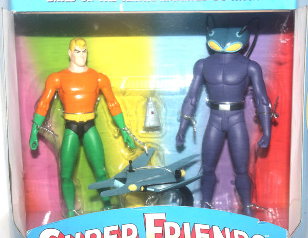 NIB Super Friends, Aquaman and Black Manta, DC Direct, Deluxe Action Figure Set, Antique Alchemy