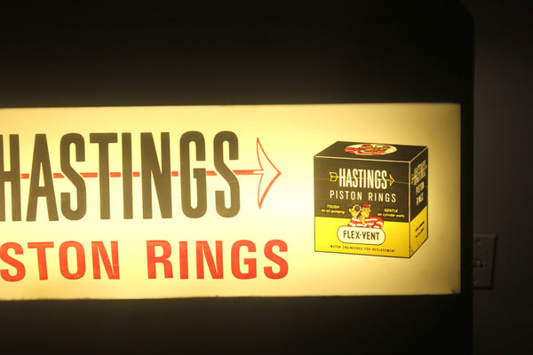 Vintage Hastings Piston Rings, Light Up Counter Display, Catalogue Display, Antique Alchemy
