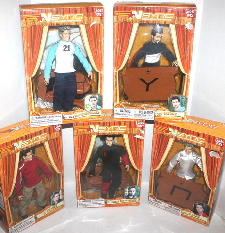 Complete Set of N'Sync Living Toys Dolls Marionettes, Antique Alchemy