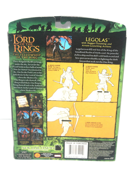 The Lord of the Rings Fellowship of the Rings Legolas Figure By Toy Biz, Antique Alchemy
