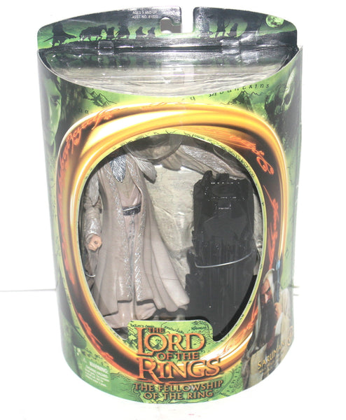 The Lord of the Rings Fellowship of the Rings Saruman Figure By Toy Biz, Antique Alchemy