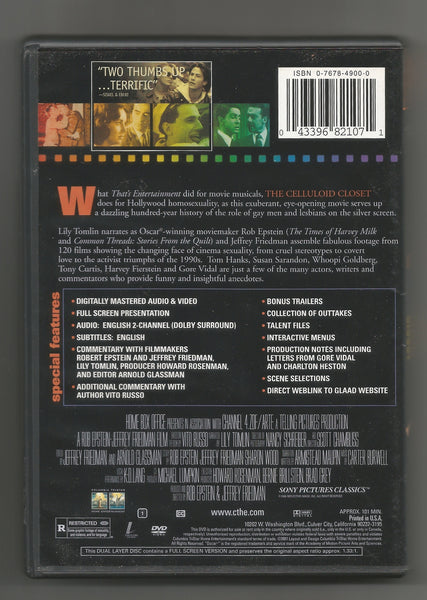 Special Edition, The Celluloid Closet DVD, Antique Alchemy