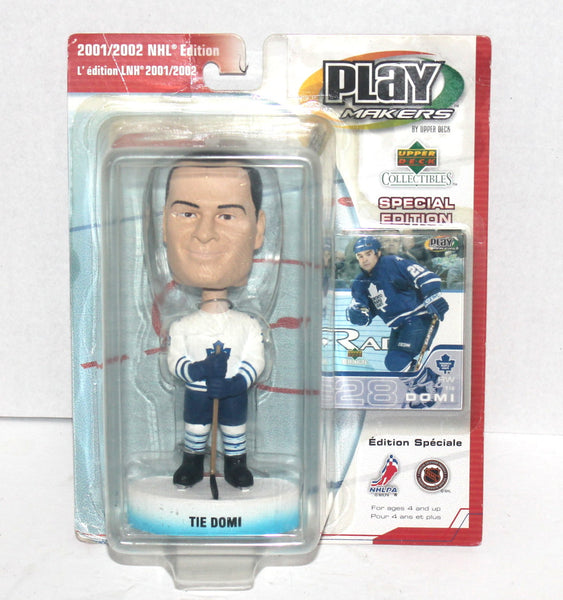 Upper Deck Play Makers, Tie Domi Bobble Head, NIB, Antique Alchemy