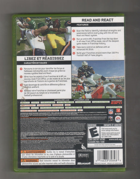 Madden NFL 08, Game XBOX 360, Vintage Games, Antique Alchemy
