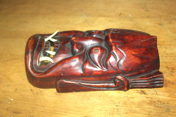 Vintage Wood Carved Noh Demon Devil Mask, Japanese, Antique Alchemy