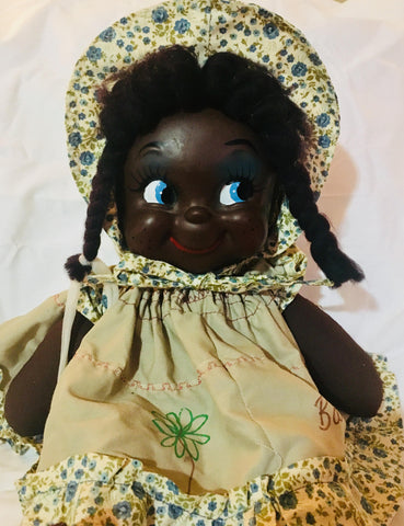 15'' Vintage African American Baby Doll, Barbados, By Zonka, Antique Alchemy