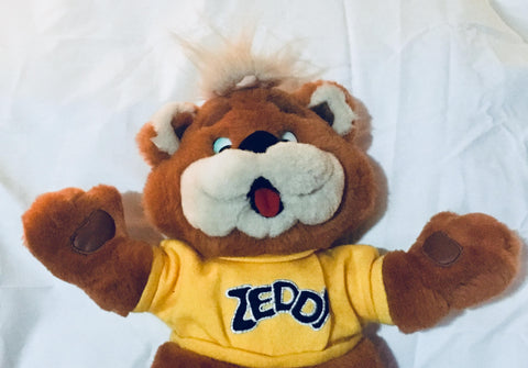 15'' Vintage Zellers Zeddy Mascot Stuffed Animal, Antique Alchemy
