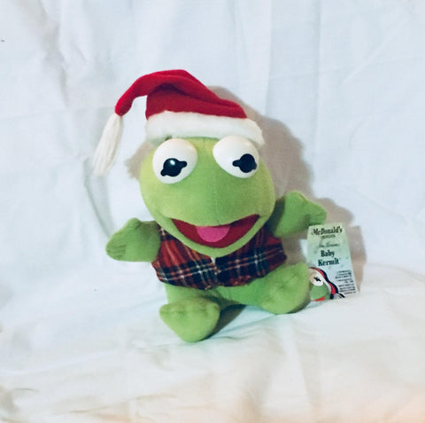 "6"" Vintage NWT Christmas Baby Kermit The Frog Doll, Muppets, Vintage Toys, Antique Alchemy"