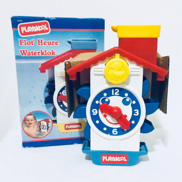 NIB 1991 Playskool Flot' Heure Water Clock, MB France, Baby Fun Centre, Antique Alchemy