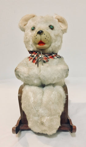 1950'S Vintage Battery Operated MODERN TOYS Mother Bear Knitting Toy, Antique Alchemy