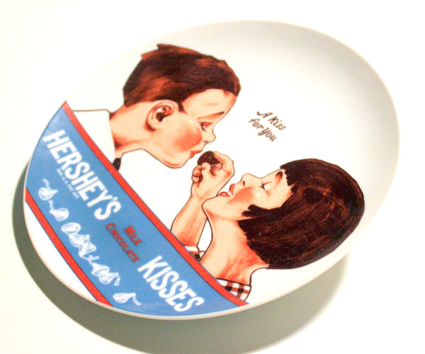 1970s Hersheys Kiss Collector Plate, Collectible Plates, Hershey Chocolate, Antique Alchemy