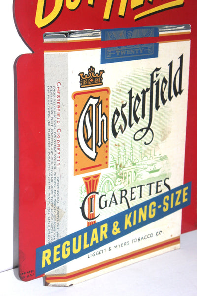 Authentic Vintage Chesterfield Cigarettes Flange Sign, Double Sided, Antique Alchemy