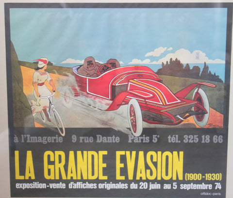 Antique Collectible Advertising, French Expo La Grande Evasion,1974,GEO DORIVAL, Paris, Poster