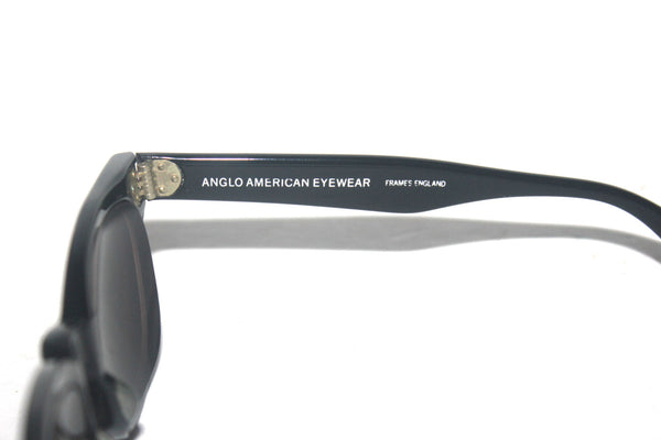 Vintage Anglo American Eyewear, Black Eye Glasses, Made in England, Antique Alchemy