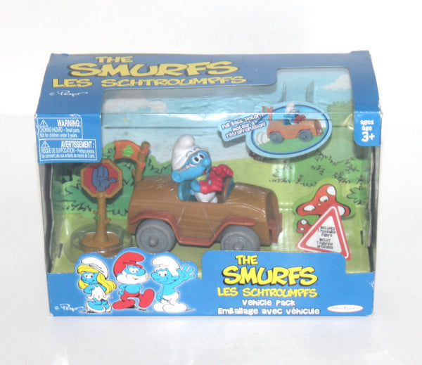 NOS The Smurfs Vehicle Pack, Smurfs, Vintage Toys, Antique Alchemy