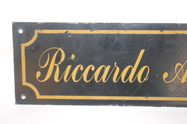 Double Sided Vintage Enamel Sign, Mens Clothiers, Maintenance, Riccardo Arcese, Antique Alchemy