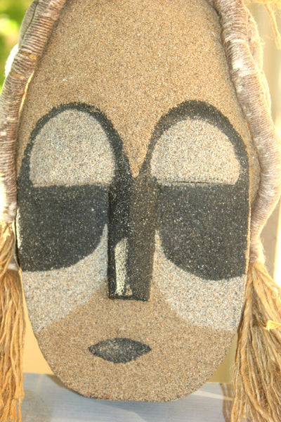 African Mask, Wall Mask, Sand Mask, Tribal Mask, African Art, Carved Mask, Antique Alchemy