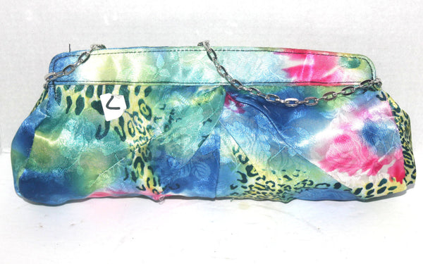 Vintage Spring Satin Cocktail Evening Purse, Colourful, Animal Print, Handbag, Antique Alchemy