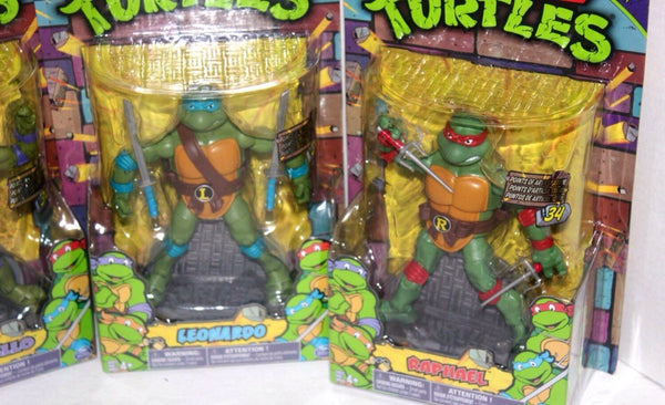 NOS, TMNT Retro Ninja Turtle Toys, Set of 4, 90s 80s Movies, Antique Alchemy
