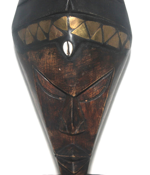 African Mask, Wall Mask, Akan Africa, Tribal Mask, African Art, Carved Mask, Antique Alchemy