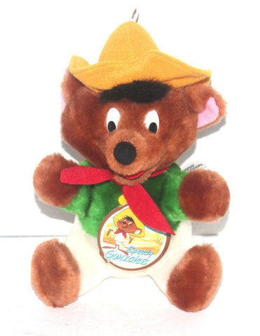 "1991 Warner Brothers Looney Tunes Speedy Gonzales 8"" Stuffed Animal Plush Toy, Antique Alchemy"