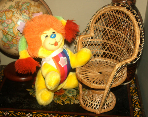 10'' 1980s Rainbow Brite Puppy Dog, Rainbow, Stuffed Animal, Antique Alchemy