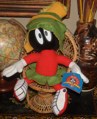 18'' 1990s Marvin The Martian, Looney Tunes, Stuffed Animal, Antique Alchemy