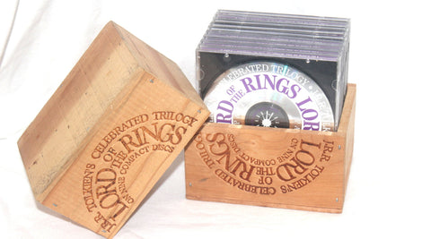 1994 J.R.R. Tolkien's Celebrated Trilogy: The Lord of the Rings Wood Box Set Antique Alchemy