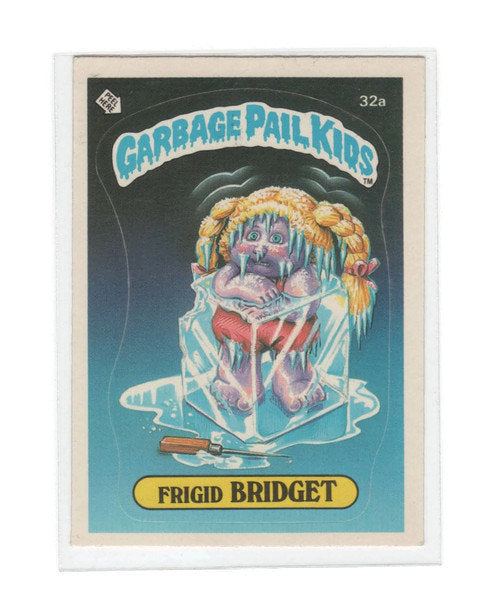 Vintage OS GPK Fridgid Bridget, Garbage Pail Kids, 1980s, Antique Alchemy