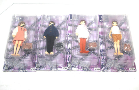 1990s Set of 4 Vintage White Illumination Anime Action Dolls, Takara Toys, Japan, NIB, Antique Alchemy