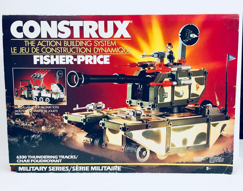 1986 CONSTRUX Military Series, Fisher Price, NIB Antique Alchemy