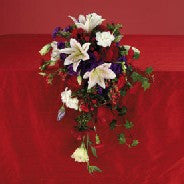 Mixed Cascade Bouquet with Le Reve Lilies