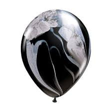 Black Marble Balloon 28cm, Pack of 5