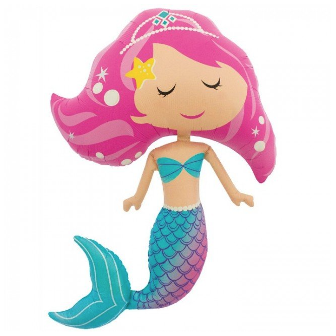 Jumbo Mermaid Foil Shape Balloon 114cm