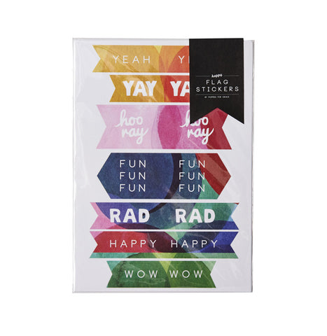 Happy Flag Stickers