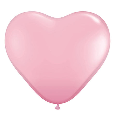 Jumbo Pink Heart Latex Balloon 90cm
