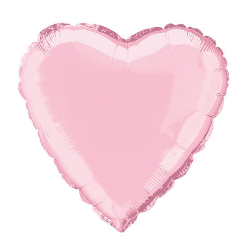 Jumbo Pink Heart Metallic Foil Balloon 90cm