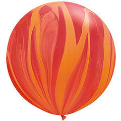 Jumbo Red Marble Balloon 90cm