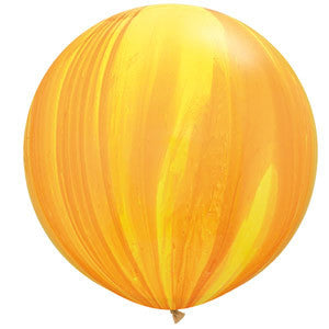 Jumbo Yellow Marble Balloon 90cm