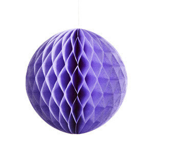 Lavender Honeycomb Tissue Ball, 30cm