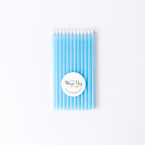 Pale Blue Slimline candles