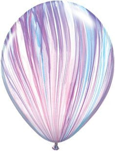 Pastel Rainbow Marble Balloon 28cm, Pack of 5