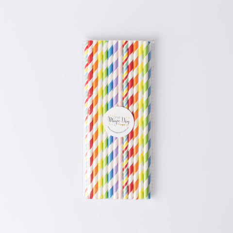 Rainbow Party Mixed Straws (pack of 25)