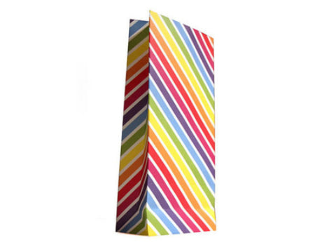 Rainbow Stripe Paper Lolly/Treat Bags (Pack of 10)