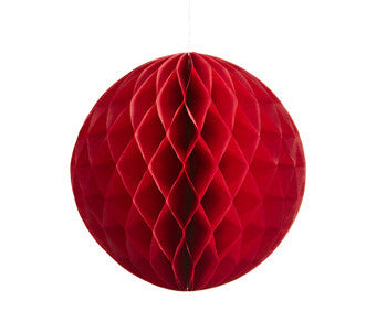 Red Honeycomb Tissue Ball, 30cm