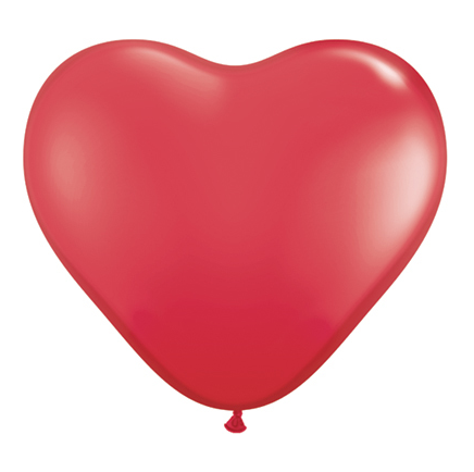 Red Heart Shaped Jumbo Latex Balloon, 90cm