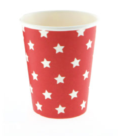 Red With White Stars Paper Cups